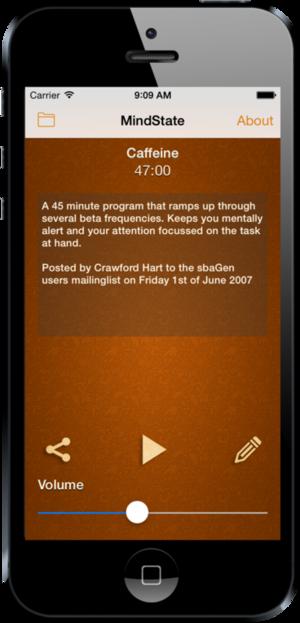 MindState - A Binaural Beats and Isochronic Tone generator